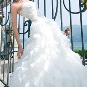 Ruffled Demetrios Wedding dress